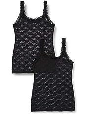 Iris & Lilly BELK225M2 dames Wide Strap Vests (2-Pack)