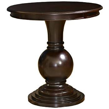Powell Espresso Round Accent Table