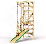 Wooden Swedish Ladder Wall Set – Kids Swedish Ladder Stall Bars for Exercise – Kids Swedish Gymnastic Wall Lad