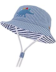 LANGZHEN Kids Sun Protection hat Cotton Toddler Boys Girls Bucket hat