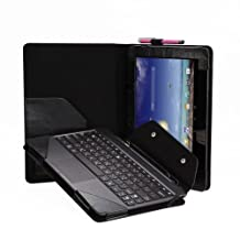 Poetic ASUS Transformer Pad TF701T PU Leather Keyboard Portfolio Stand Case Cover- Black (3 Years Manufacturer Warranty from Poetic)