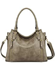 Plambag Faux Leather Handbag for Women Zipper Purse Tote Bag