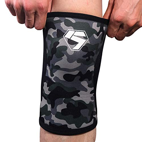 Weightlifting Knee Sleeves /Elbow Sleeves 7MM Neoprene Compression Knee Support For ProfessionalWeightlifting | Cross Training | Strength Improvement (1 pair) (XL, Knee Sleeves)