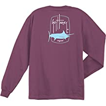 Guy Harvey Barrel Logo Long Sleeve T-Shirt