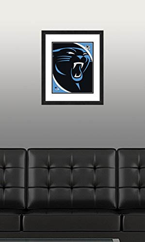 NFL Carolina Panthers Logo, Beautifully Framed and Double Matted, 18