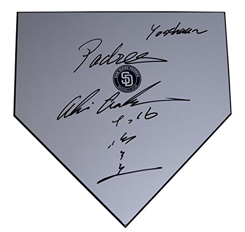 (San Diego Padres Akinori Otsuka Autographed Hand Signed Baseball Home Plate Base with Proof Photo of Signing and COA- SD Padres Memorabilia)