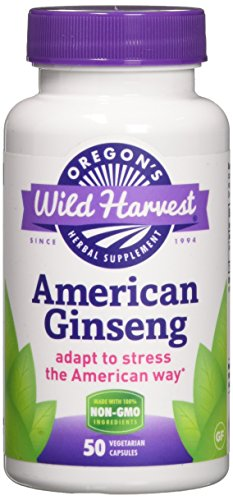 Oregons Wild Harvest Non-GMO American Ginseng Capsules  (Packaging May Vary), 90 Count