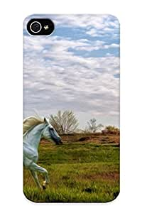 Hot Horse First Grade Tpu Phone Case For Iphone 4/4s Case Cover
