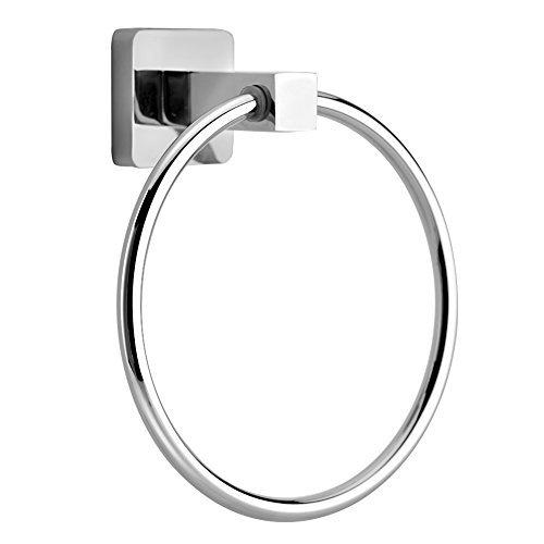 TOPINCN Bathroom Towel Ring, Modern Design, Polished Chrome by VGEBY