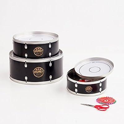 SUCK UK Cajas de latón en Forma de batería, Otro, Negro y Blanco ...