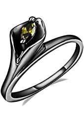 Women's 14K Gold Marquise-Cut Cubic Zirconia Gun Plated Promise Anniversary Rings