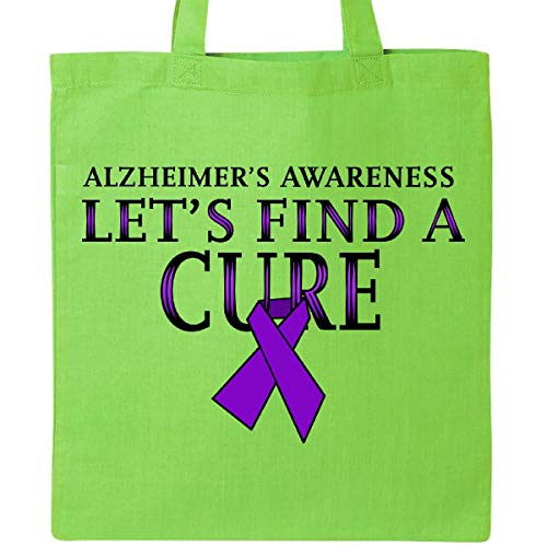 Inktastic - Let's Find a Cure-Alzheimers Awareness Tote Bag Lime Green 32433