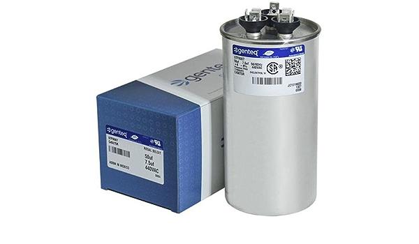 GE 7.5 uF MFD x 440 VAC Genteq Replacement Dual Capacitor Round # C45075R//97F9987 50