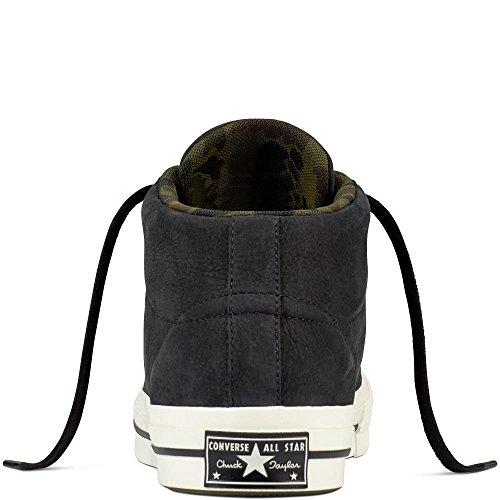 Black Adulte Converse Noir Chaussures de Lifestyle Mid Nubuck Fitness 001 Mixte Herbal Star One Egret SRSCTnqZ