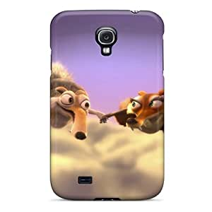 Slim Fit Tpu Protector Shock Absorbent Bumper Ice Age 3 Dawn Dinosaurs Scrat And Scratte Case For Galaxy S4