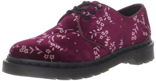 Dr. Martens Womens Hugh 3 Eye Shoe Cherry Red Velvet Blossom aQV2Lz