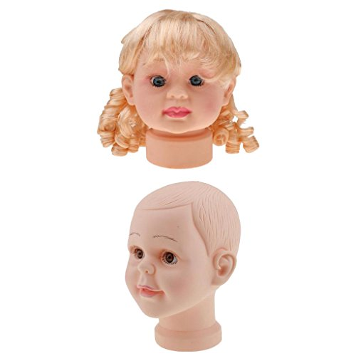 Jili Online Durable Plastic Children Mannequin Child Kid Baby Manikin Head Hair Wig Hat Stand Display Tool