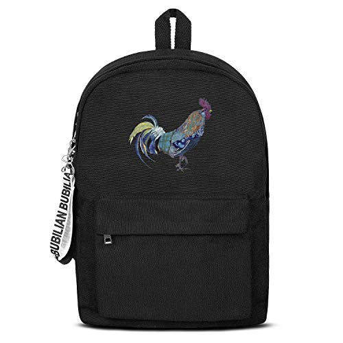 YHTRHGH Black Canvas School Bag Backpack for Womens Mens Unisex Perfect College Laptop Outdoor Travel Sports Bag for Teens Casual Lightweight Daypack High Capacity Laptop ()