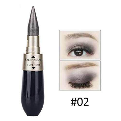 (Oksale® 6 Colors Double-End Waterproof Liquid Eyeshadow Eyeliner Combination Easy To Wear Makeup (#02))