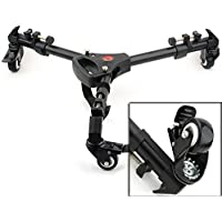 ASHANKS YT-900 Tripod Dolly Pro 3 Wheels Pulley Universal Folding Camera Base Stand for Canon Nikon Sony DSLR Camera
