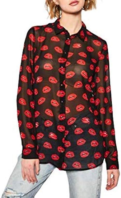 Guess W0GH0FW70Q0 P58B Poppy - Camisa de manga larga para ...