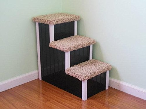 Pet Step for Dogs 5-50 lbs, 15'' High Dog Step, Best Pet Stair, Dog Furniture, Dog Stair by Hampton Bay Pet Steps