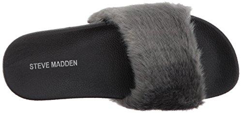 Steve Madden Damen Softey-P Slide Sandale Grau