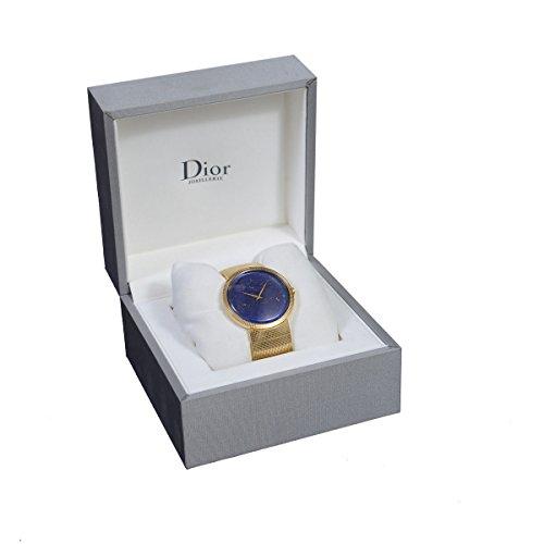 Christian Dior La D De Dior Lapiz Lazuri Dial Solid Swiss Gold Watch