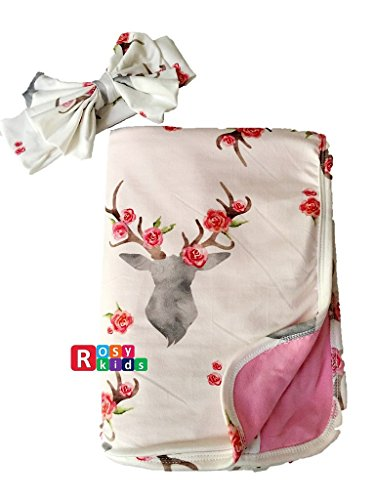 Rosy Kids Ultra Soft Breathable Double Layer Baby Receiving Blanket, Swaddle Blanket for Baby Girl and Baby Boy, Color21JY05