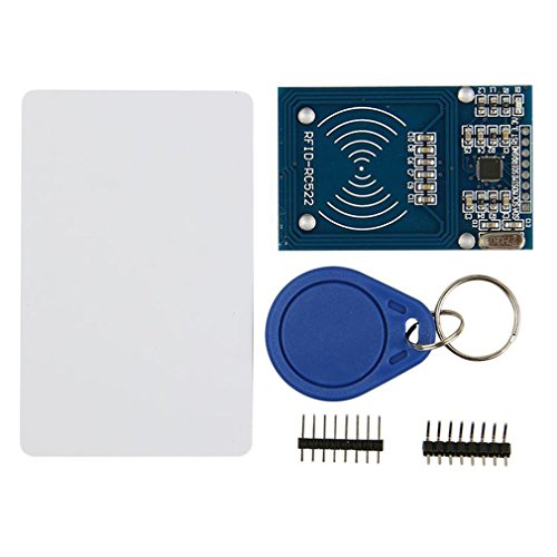 HiLetgo RFID Kit - Mifare RC522 RF IC Card Sensor Module + S50 Blank Card + Key Ring for Arduino Raspberry Pi