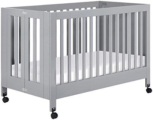 Babyletto Maki Full-Size Folding Crib, Grey