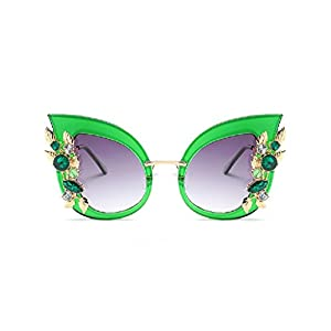 JollyFree Luxury Sunglasses Women Inlaid Rhinestone Retro Sun glasses Cat Eye design Sunglasses (5)