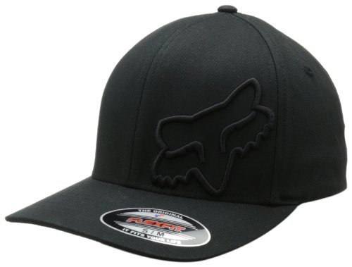 Fox Men's Flex Fit Legacy Logo Hat, Black1, L/XL by Fox