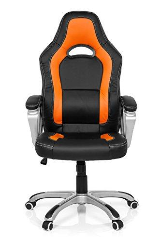 MyBüro Gaming Stuhl Gaming Zone Pro AB 100 (schwarz / orange)