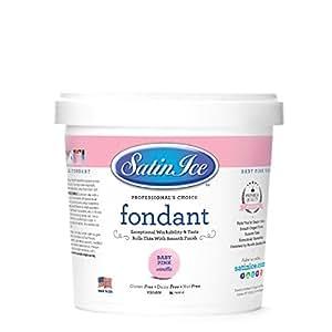 Satin Ice Vanilla Fondant Baby Pink 2 lb