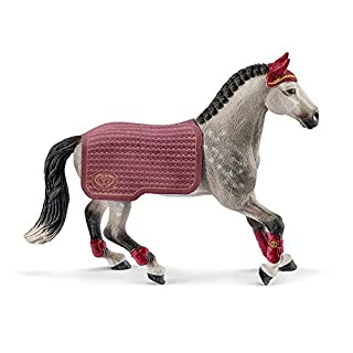 Schleich Horse Club Trakehner Mare Riding Tournament 2-piece Educational Playset for Kids Ages 5-12