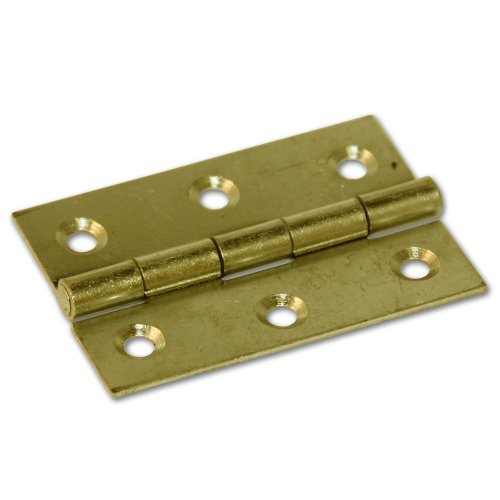 Solid Brass Butt Hinge - 63mm (Pack of 2) by RKLTools.co.uk