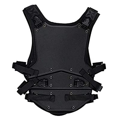 WOLFBUSH Tactical Vest EVA Body Armor Vest Protective Hard Waistcoat for Airsoft/Nerf Game/Cosplay - Black