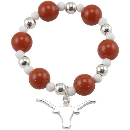 NCAA Texas Longhorns Logo Stretch Beaded (Texas Longhorns Beaded Bracelets)