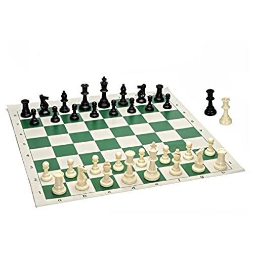 enjoyable ideas cheap chess sets. Best Value Tournament Chess Set  90 Plastic Filled Pieces and Green Roll up Vinyl Board Portable Amazon com