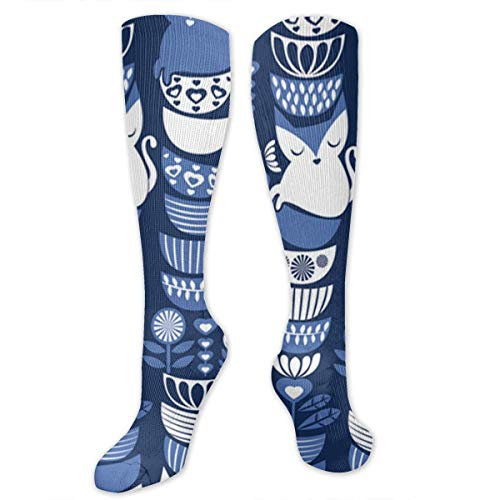 - Chanwazibibiliu Swedish Folk Cats Mens Colorful Dress Socks Funky - Men Multicolored Pattern Fashionable Fun Crew Cotton Socks