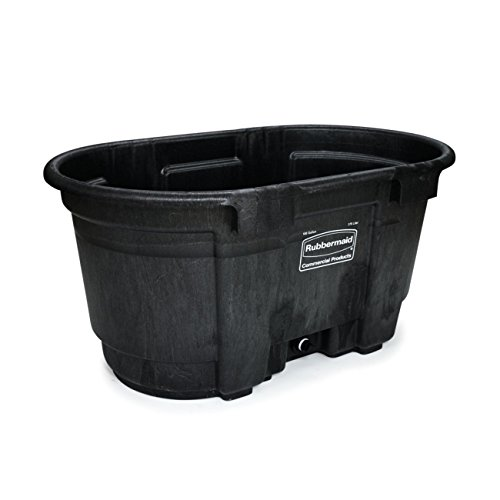 Rubbermaid Commercial FG424288BLA Structural Foam Stock Tank, 100 Gallon Capacity, 53'' Length x 25'' Height, Black by Rubbermaid Commercial Products (Image #4)