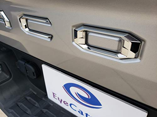 EyeCatcher Pro Series Tailgate Letter Inserts for 2016-2019 Toyota Tacoma (Pro Bright Chrome)