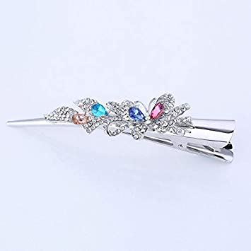 USA Bobby Pin Hairpin Rhinestone Crystal Jeweled Elegant Unique Simple Dark Red