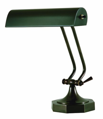 House Of Troy P10-107-81 10-1/2-Inch Portable Desk/Piano Lamp, Mahogany - 10' Lamp Piano