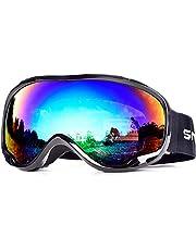 SnowledgeSkibrilleSnowboard Brille Doppel-Objektiv OTG UV400 Schutz mit Anti-Beschlag, Skibrille Damen& Herren,Winddicht Ski-Schutzbrillen für Motorrad Fahrrad Skifahren Skaten, Helmkompatible