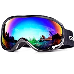 Are you trying to search for a pair of protective,OTG design,comfortable, stylish and durable ski goggles?The Hubo Sport Ski Goggles will be your best choice.OTG (OVER-THE-GLASSES) DESIGN Hubo Sport Ski goggles that fits over glasses. Suitabl...