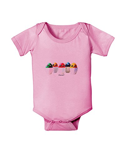 TooLoud Kawaii Easter Eggs - No Text Baby Romper Bodysuit -