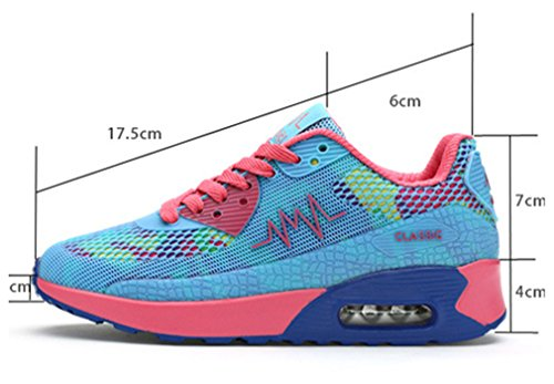 NEWZCERS Stylish Breathable Walking Running Sport Shoes Sneakers for Women Student Girls Blue gvlw1K