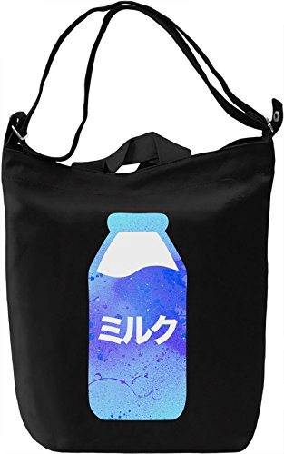 Milk Borsa Giornaliera Canvas Canvas Day Bag| 100% Premium Cotton Canvas| DTG Printing|